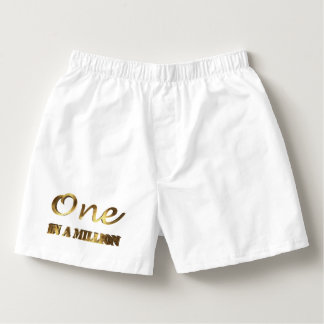 One in a million Elegant Gold Brown Typography Boxers