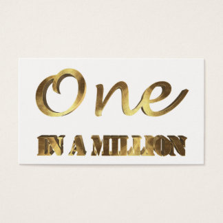 One in a million Elegant Gold Brown Typography Business Card