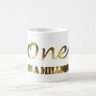 One in a million Elegant Gold Brown Typography Coffee Mug