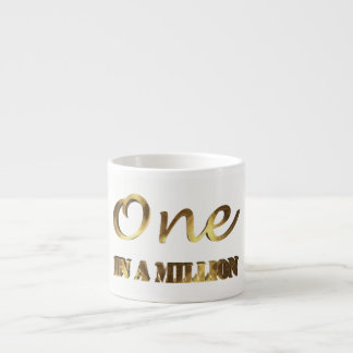 One in a million Elegant Gold Brown Typography Espresso Cup