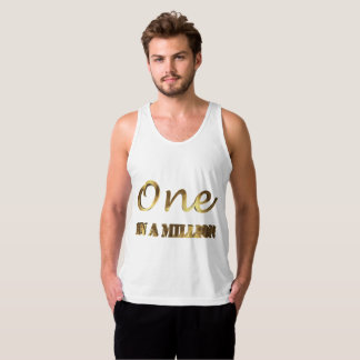 One in a million Elegant Gold Brown Typography Singlet