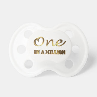 One in a million Elegant Gold Typography Baby Pacifier