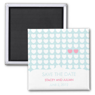 One in a Million Hearts Save the Date Magnet