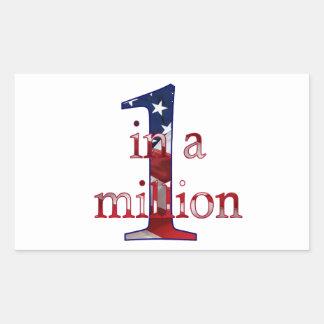 One In A Million Rectangular Sticker