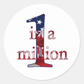 One In A Million Round Sticker
