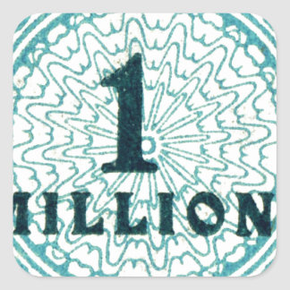 One In A Million Square Sticker
