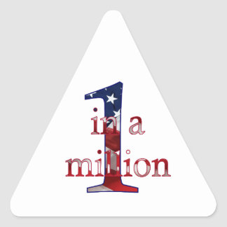 One In A Million Triangle Sticker