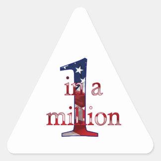 One In A Million Triangle Sticker