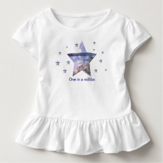 One in as million Stars Toddler Ruffle Tee