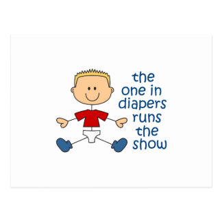 ONE IN DIAPERS RUNS SHOW POST CARDS