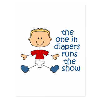 ONE IN DIAPERS RUNS SHOW POSTCARD