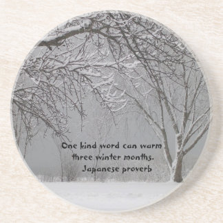 One kind word-Japanese Proverb Beverage Coaster