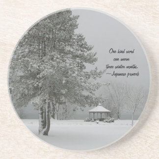 One Kind Word-Winter Landscape Coaster