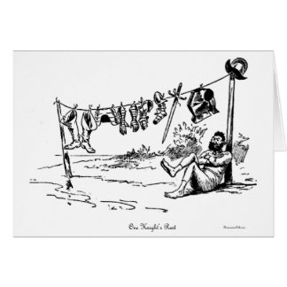 One Knight's Rest Vintage Caricature Greeting Card