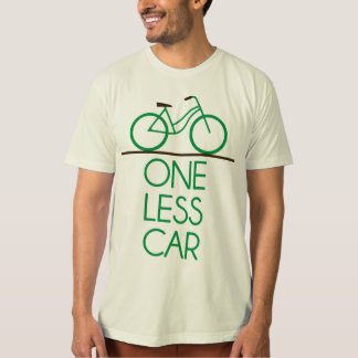One Less Car Earth Friendly Bicycle T Shirts