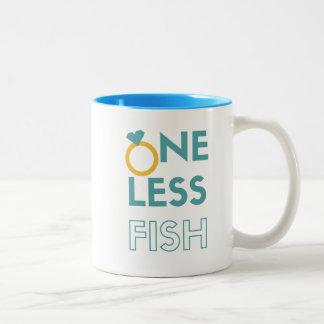One Less Fish Two-Tone Coffee Mug