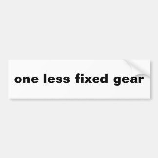 one less fixed gear bumper sticker