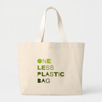 One less plastic solid jumbo tote bag