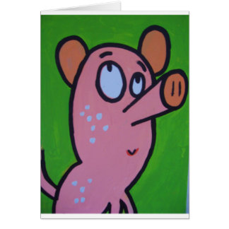 One little pig greeting cards