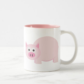 One Little Pig in Pink Coffee Mugs