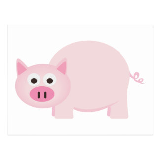 One Little Pig in Pink Postcard