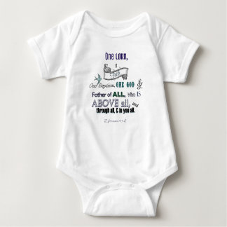 One Lord, One Faith Baby Bodysuit