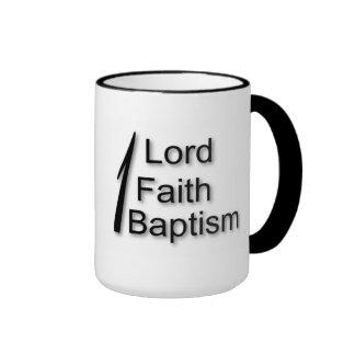 One Lord One Faith One Baptism Ringer Mug