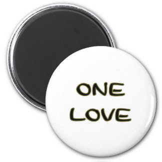 One Love 6 Cm Round Magnet