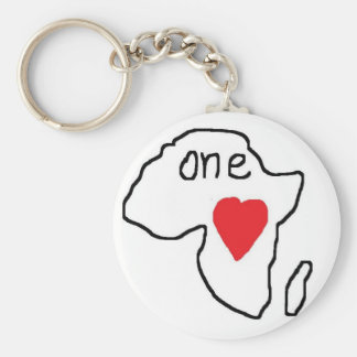 One Love Africa Basic Round Button Key Ring
