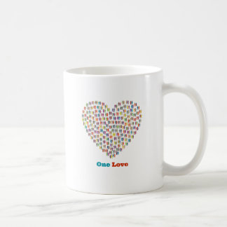 One Love Humanity Heart Mug