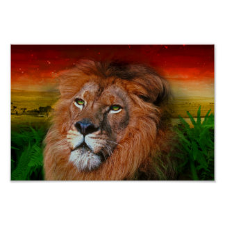 One Love Lion II - Poster / Print