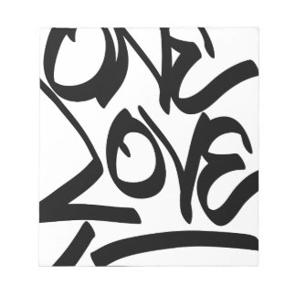 one-love notepad