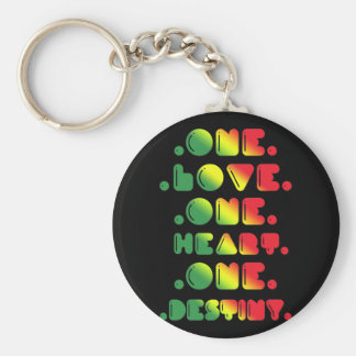 ONE LOVE, ONE HEART, ONE DESTINY KEY RING
