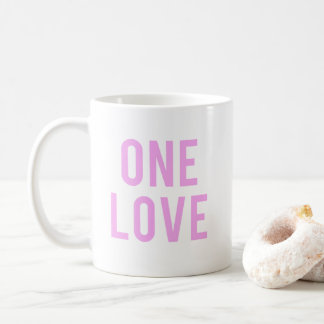 One Love Pink Print Coffee Mug
