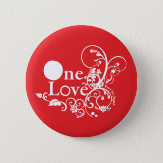 One Love - Pray for Japan (Red) 6 Cm Round Badge
