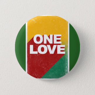 One love rasta 6 cm round badge