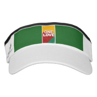 One love rasta visor
