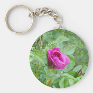 One Lovely Rose Basic Round Button Key Ring