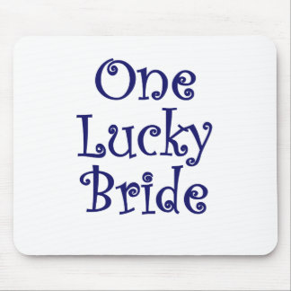One Lucky Bride Mouse Pad