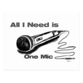 one mic postcard