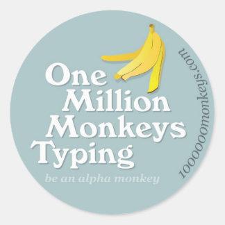 One Million Monkeys Typing - Sticker