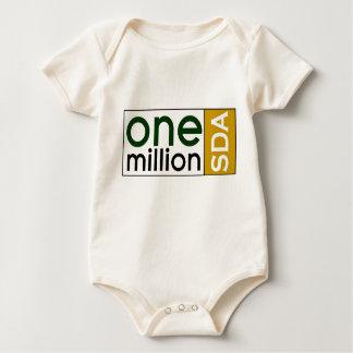 one million sda baby hugger baby bodysuit