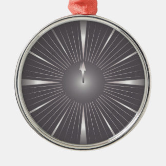 one minute metal ornament
