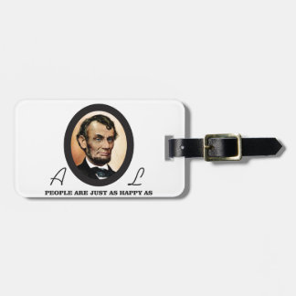 one more abe quote luggage tag