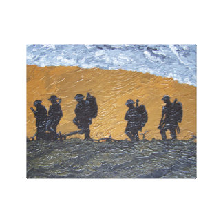 One more push lads canvas print