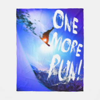 ONE MORE RUN! FLEECE BLANKET