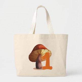 One mushroom jumbo tote bag