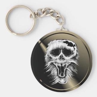 One Nasty Skull Keychain