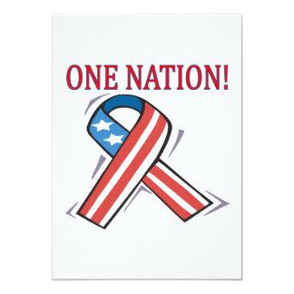 One Nation 13 Cm X 18 Cm Invitation Card