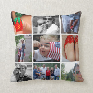One Nation 9 Photo Pillow